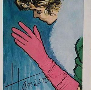 "Vintage Accessories - 1950S VTG 1950S ""HANSEN', NYLON SHEER GLOVES! SZ 7"